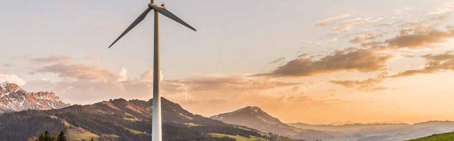 Windmill in neat landscape